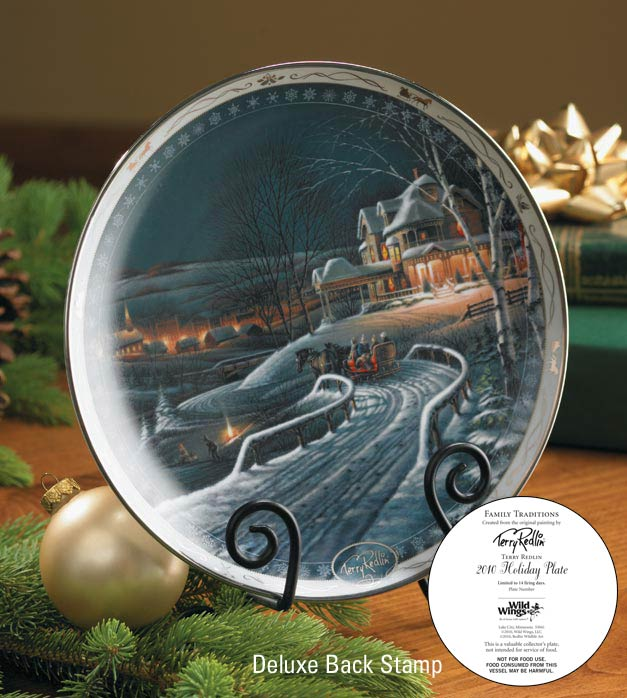 "2010 Deluxe Christmas Plate ""Family Traditions"""