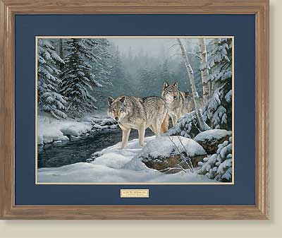 Along The Creek-Wolves by Rosemary Mollette