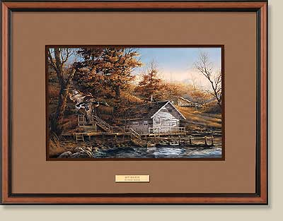 Autumn Shoreline Walnut Framed Print