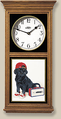 Black Lab Pup Clock