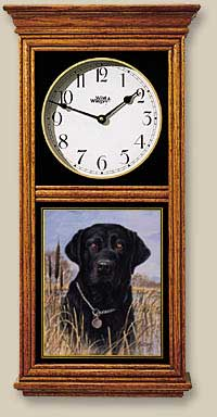 Black Lab Regulator Clock