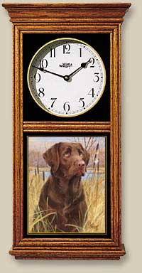 Chocolate Lab Clock