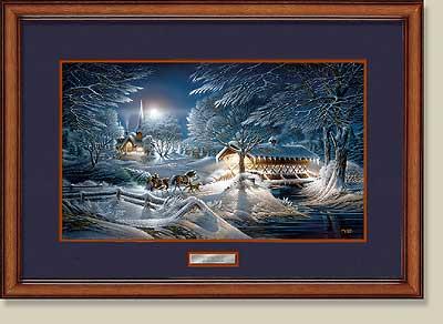 evening frost framed print larger image