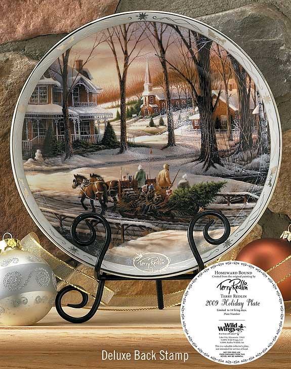 2009 Homeward Bound Deluxe Christmas Collector Plate