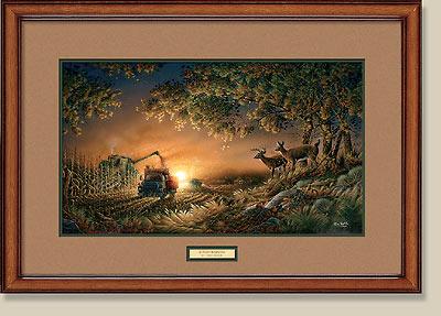 sunset harvest framed print larger image