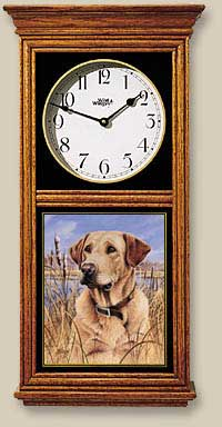 Yellow Lab Clock