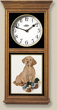 Yellow Lab Pup Clock